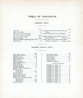 Table of Contents, Madison County 1918